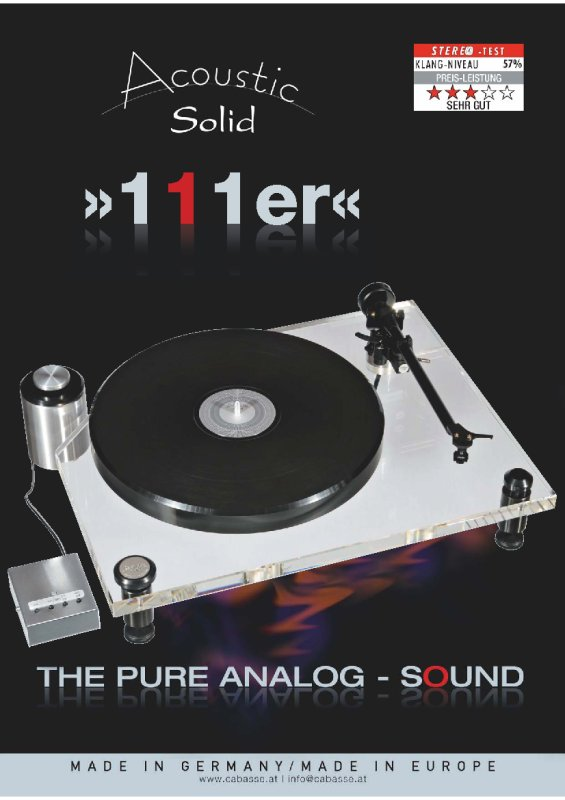 Acoustic Solid 111er Phono-Laufwerk